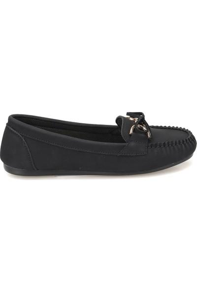 Miss F Dw18009 Siyah Kadın Loafer Ayakkabı
