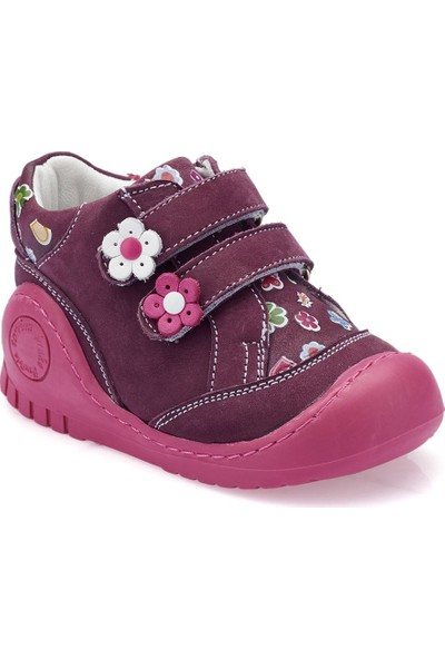 Polaris 82.510505.İ Mor Kız Çocuk Deri Sneaker Ayakkabı