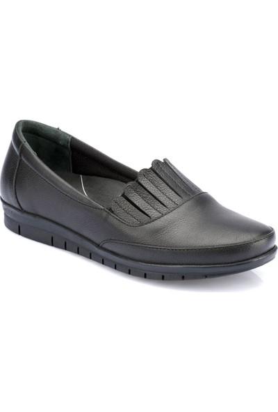 Polaris 5 Nokta 82.100170.Z Siyah Kadın Deri Ayakkabı