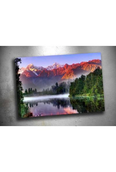 Caddeko Yn-253 Sis Dağ Ve Orman Manzara Kanvas Tablo 70 x 100 cm