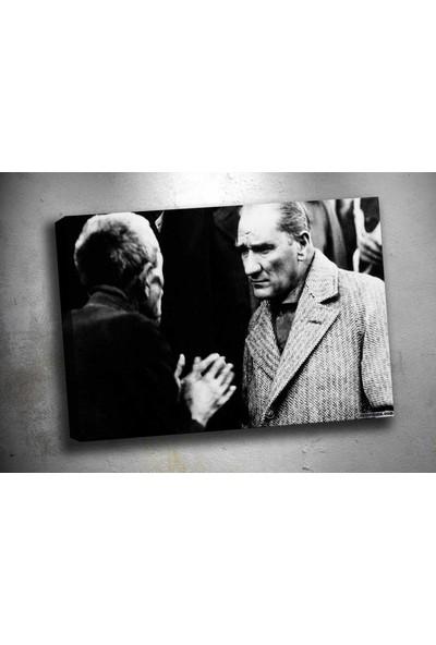 Caddeko Ata-191 Atatürk Vatandaş Kanvas Tablo 70 x 100 cm
