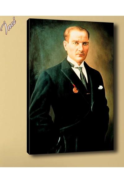 Caddeko Ata-183 Atatürk Mecliste Kanvas Tablo 70 x 100 cm