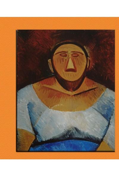 Caddeko Picasso Farm Woman Bust Kanvas Tablo 70 x 100 cm