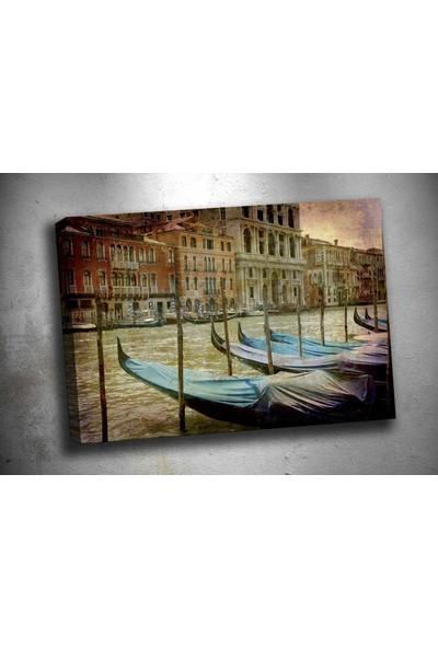 Caddeko Sz2889 Venedik Gondollar Kanvas Tablo 70 x 100 cm