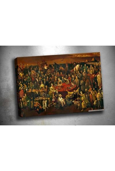 Caddeko Op167 Tüm Zamanların Ünlüleri Yağlı Boya Görünümlü Kanvas Tablo 70 x 100 cm