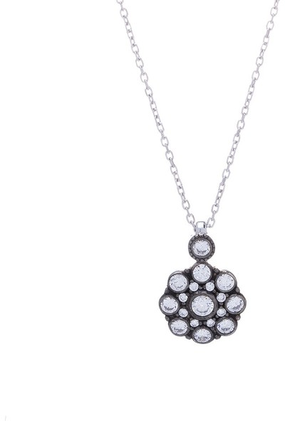 Nagiss 925 Ayar Gümüş Çiçek Model Otantik Kolye