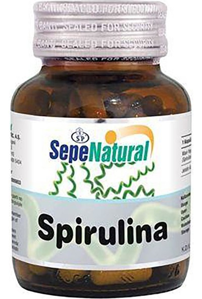 Sepe Natural Spirulina Kapsül 90 x 380 mg Yosun Hapı