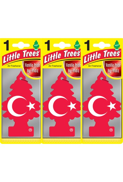 Little Trees Asma Koku Vanilla Pride Türk Bayrağı Kokusu 3 Adet