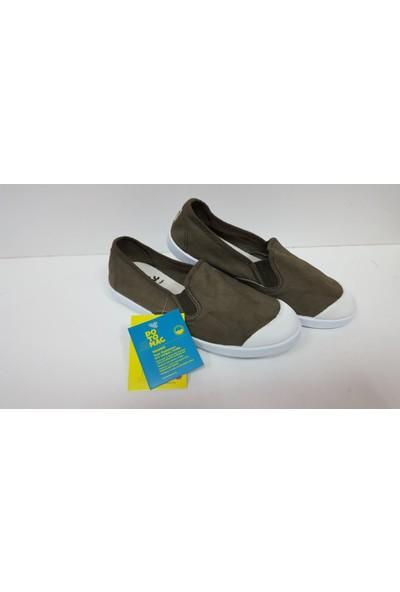 Potomaç Kadın Haki Organik Keten Ayakkabı P08295 KAKI CAMPING ELÁSTICO (PT)