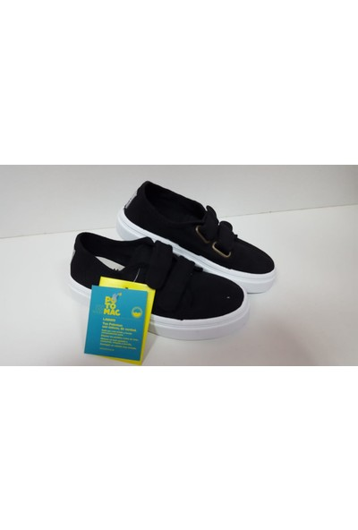 Potomaç Erkek Çocuk Siyah Organik Keten Ayakkabı P00311 NEGRO BLUCHER (PT)