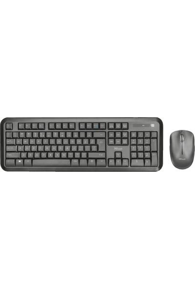 Trust 22984 Nova Türkçe Q 12 Multimedya Tuş Kablosuz Klavye Mouse Set