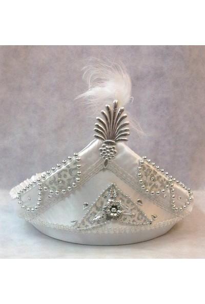 Yavuz Sünnet Tepsisi Sünnet Şapkası Şeklinde Süslenmiş Gümüş 30 cm* 40 cm