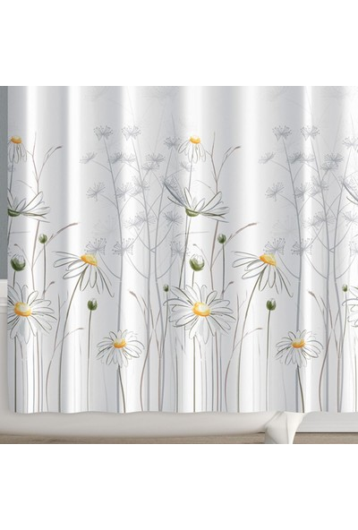 Prado Daisy Banyo Perdesi + Askı 180x200