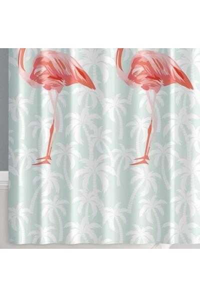 Prado Flamingos Banyo Perdesi, Duş Perdesi 180x200cm