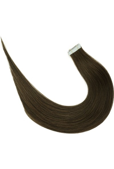 S-Well Micro Bant Kaynak Saç - Tape Hair Extension - Kestane
