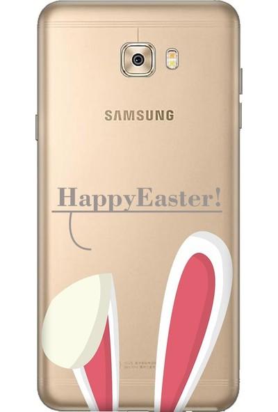 Tomkas Samsung Galaxy C7 Pro 0.2 mm Desenli Arka Kapak hopi8978