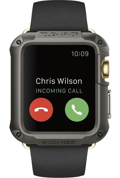 Spigen Apple Watch Seri 3/2/1 (42mm) Kılıf Tough Armor Gunmetal (Ekran Korumalı) - 048CS21060