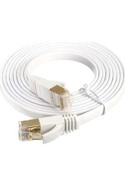 Alfais 4259 Cat7 Ethernet RJ45 Modem İnternet Kablosu 5 Metre 10Gbps 600Mhz
