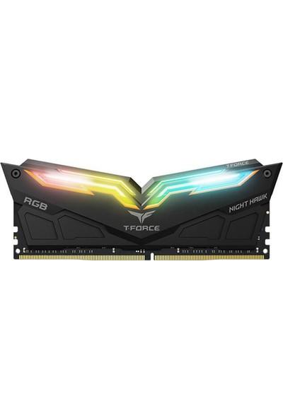 Team Nigh Hawk RGB 16GB (2x8GB) DDR4 3000Mhz RGB LED'li Ram (TM4NH300082RGBBLCK)