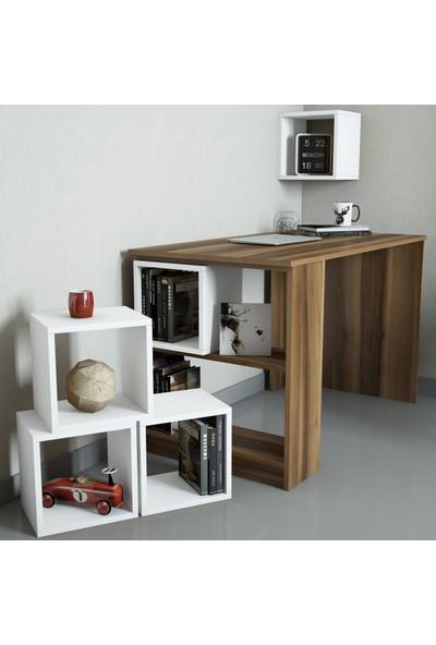 Variant Mobilya Box Çalışma Masası - Ceviz / Beyaz