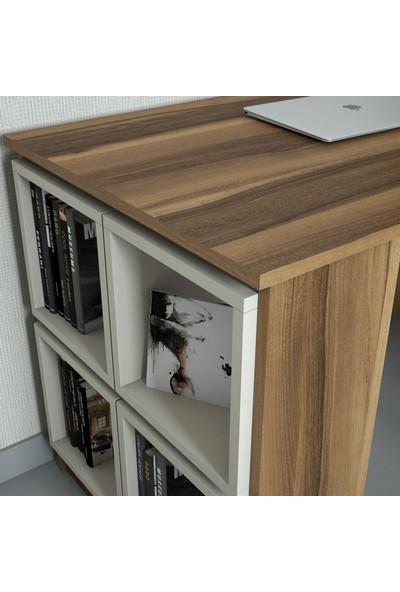 Variant Mobilya Box Çalışma Masası - Ceviz / Krem