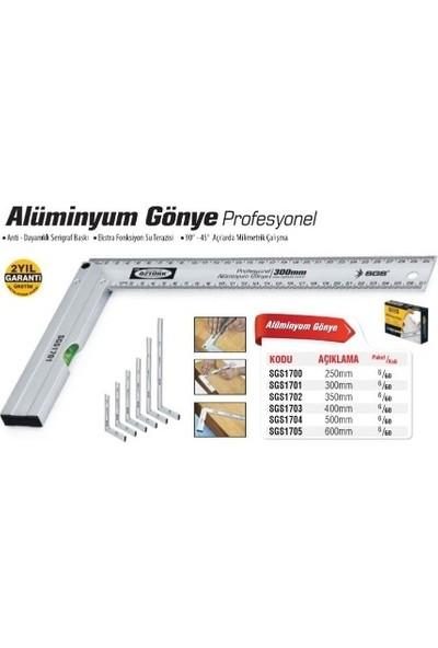 Sgs Profesyonel Alüminyum Gönye 50Cm Sgs1704 (1 Adet)
