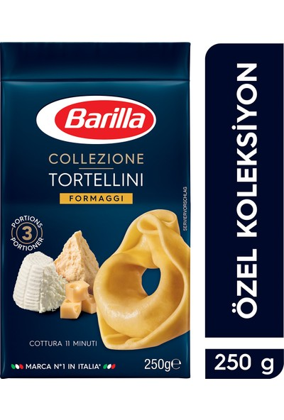 Barilla Üç Peynirli/ Tortellini Formaggi Makarna 250 Gr