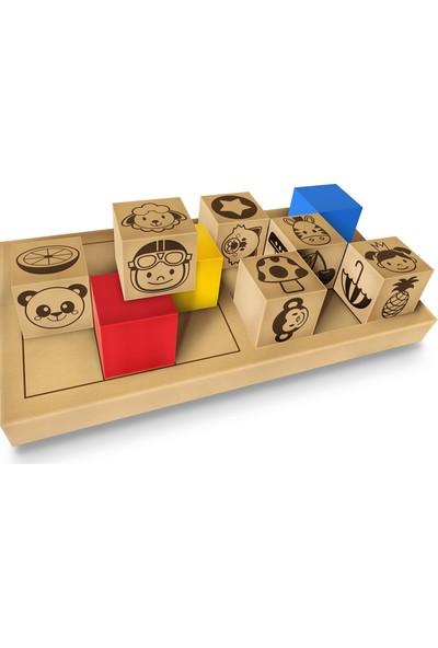 Adeda 3 Boyutlu Dikkatli Puzzle İlk Adım