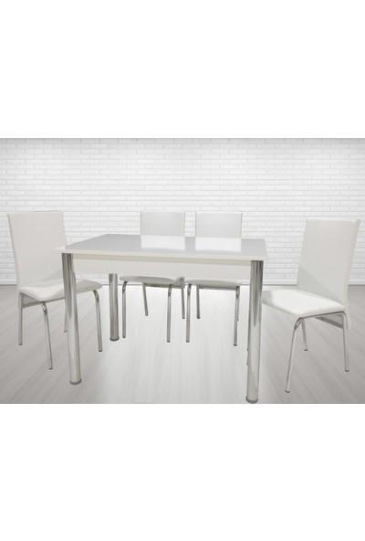 Enzi En201 Mutfak Masa Takımı - Beyaz