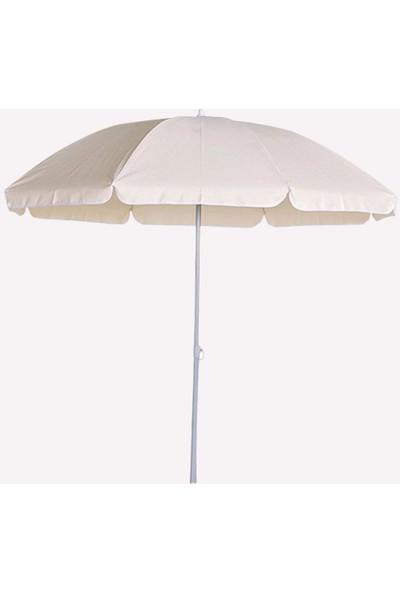 Primera Plaj Şemsiyesi 200 Cm Beyaz Kalın Oxford Kumaş ( Bidonlu )