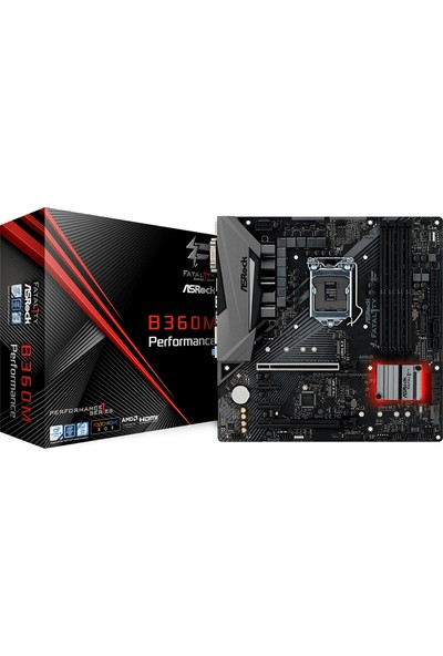 ASRock Fatal1ty B360M Performance 2666MHz DDR4 Soket 1151 mATX Anakart (ASRB360M-PERF)