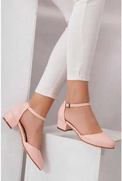 Tarçın TRC01-0142 Kadın Pudra Topuklu Ayakkabı
