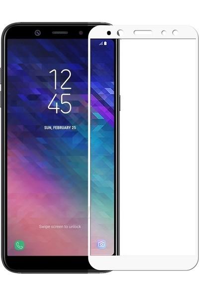 Sonmodashop Samsung Galaxy A6 2018 3D Tam Ekran Koruyucu Temperli Cam
