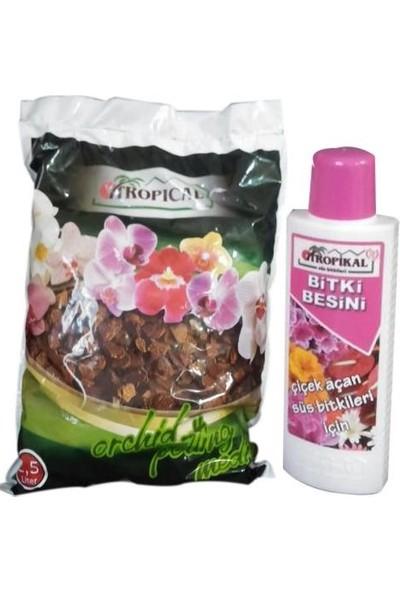Yalova Fidan Market İthal Orkide Toprağı 2,5 Kilo + Orkide Sıvı Besini 225 Ml