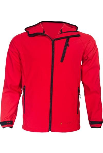 Wubec Erkek Kapşonlu Softshell Mont (Kırmızı)