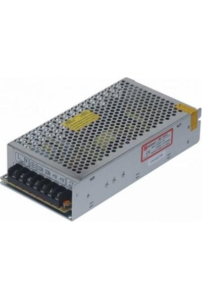 Mervesan Metal Kasa Led Trafosu 12 Volt 8.5A 100 Watt (Ac/Dc)