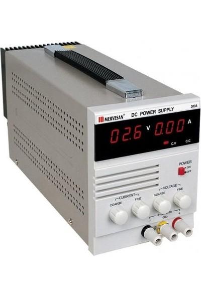 Mervesan Laboratuvar Tipi Güç Kaynakları 90W-3A