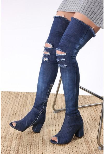 Rovigo Kadın Mavi Çizme 1111900804