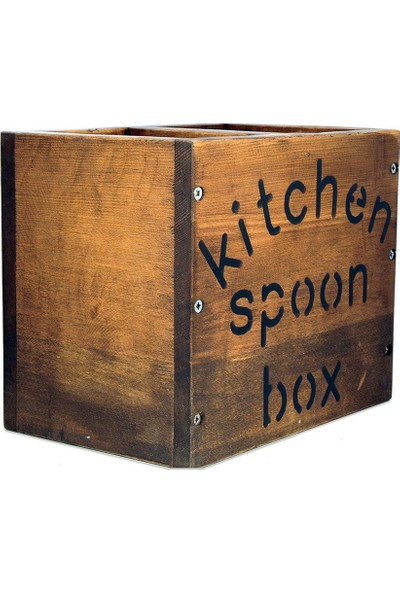 Utyawood Kitchen Spoon box baskılı kutu
