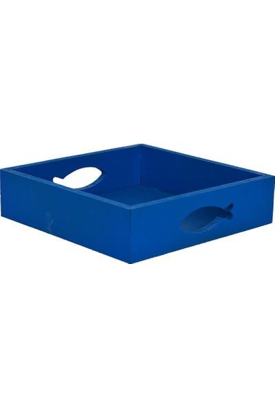 Utyawood Marine Mavi Dekoratif Peçetelik