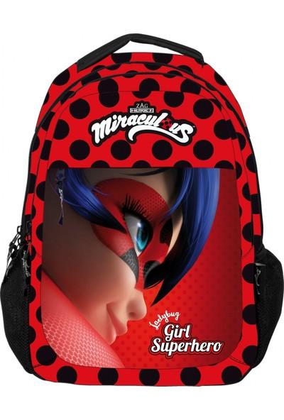 Ümit Çanta Miraculous Ladybug Girl Superhero İlkokul Çantası - Kız Çocuk