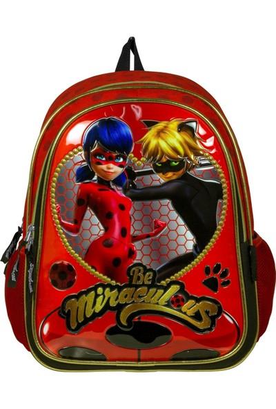 Ümit Çanta Miraculous Ladybug Ve Cat Noir Kabartmalı İlkokul Çantası - 2033