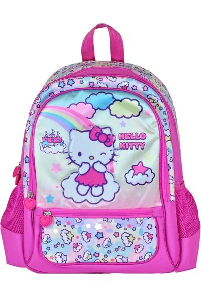 Hakan Çanta Simli Pembe Hello Kitty İlkokul Çantası - Hakan Çanta 95301