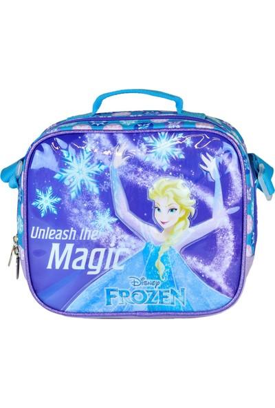 Hakan Çanta Frozen Elsa Kabartmalı Simli Beslenme Çantası 95237