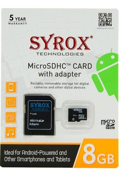 Syrox S8Gb Hafıza Kartı Micro SD
