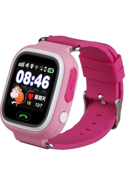 Sentar V80 - TD02 Dokunmatik Ekran GPS Takipli Akıllı Çocuk Saati – Pembe