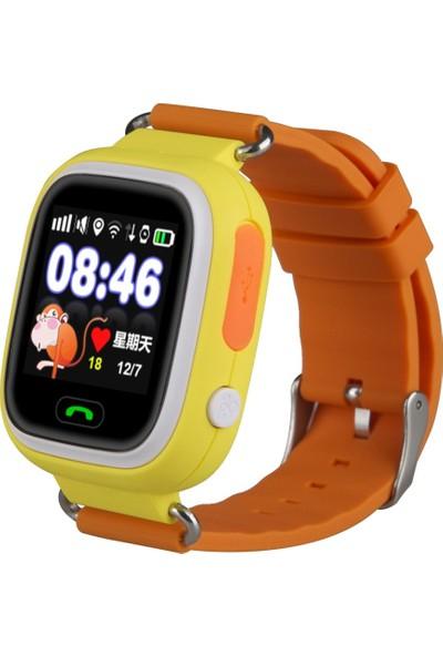 Sentar V80 - TD02 Dokunmatik Ekran GPS Takipli Akıllı Çocuk Saati - Sarı