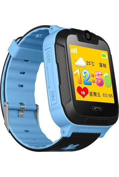 Sentar V80-07S Wi-Fi Bluetooth 3G GPS Özellikli Android Akıllı Çocuk Saati - Mavi