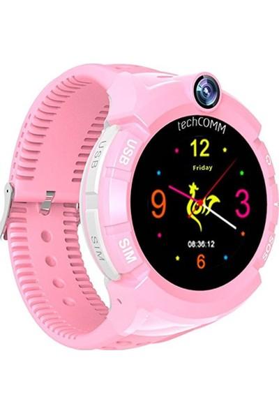 Sentar V80-ES02 GPS Özellikli Akıllı Çocuk Saati - Pembe
