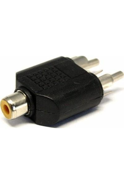 Zoomex SS-1828 2 RCA (M) RCA (F) Dönüştürücü Adaptör
